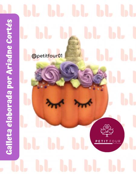 Cortador de galletas - Calabaza unicornio - Halloween - Muestra