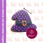 Cortador de galletas – Sombrero de bruja – Halloween -Diseño