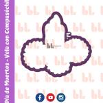 Cortador de galletas – Vela con cempasúchil – Día de muertos -Diseño