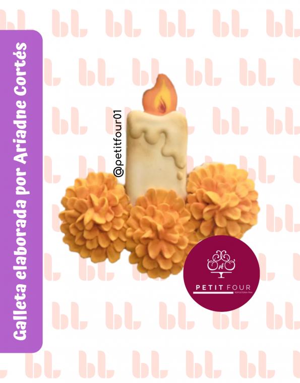 Cortador de galletas – Vela con cempasúchil – Día de muertos -Muestra